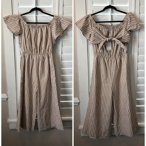 English Factory Dresses - English Factory Off The Shoulder Jumpsuit